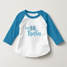 Blue Little Big Brother T-Shirt by Rosewood and Citrus on Zazzle