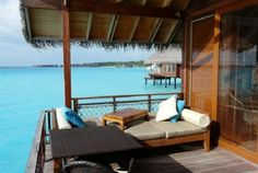 your outdoor lounge at the Shangri-La Maldives
