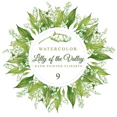 Lilly of the Valley. Hand painted  watercolor di DottyCreative