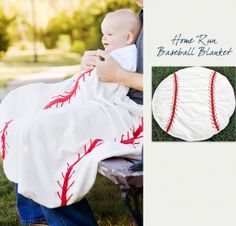 Baseball Baby Blanket. Boy or girl, my child will need this :)