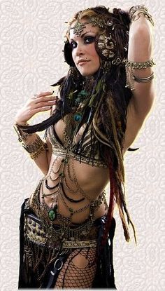 Tribal belly dance get up.