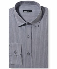 Bar III Slim-Fit Faint Yellow Stripe Dress Shirt