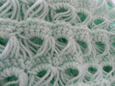 broomstick lace baby blanket..