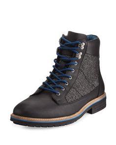 4653d118de03 Original Penguin Hiker Mixed-Media Leather Lace-Up Boot