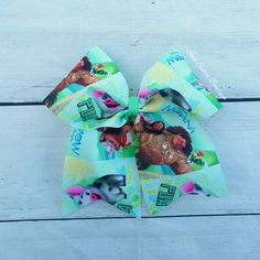 MOANA cheer bow $6.50 www.facebook.com/soulsisterboutique