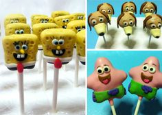 Slinky the Dog from Toy Story Cake Pops, Spongebob & Patrick from Spongebob Squarepants Cake Pops