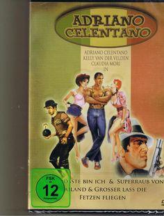 Adriano Celentano 1 - Der Größte bin Ich+ Grosser lass die fetzten Fliegen + Claudia Mori, Michelangelo, Comedians, Baseball Cards, Ebay, Sports, 2016 Movies, Bows, Hs Sports