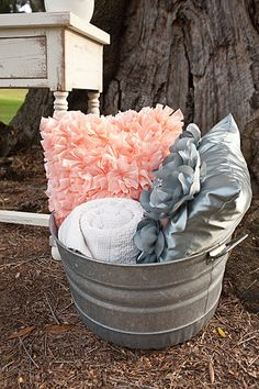 13. The reception will be decorated with my wedding color theme: Peach Pink, Grey, and Yellowy Green! Perfect for my summery wedding <3