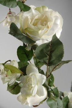 Rose Garland White 6 ft