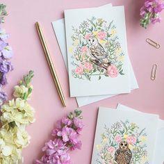 Luxury greeting cards and silk scarves by Award-Winning British designer Katie Craven Owl Card, Luxury Cushions, Scarf Design, Luxury Branding, Fashion Brand, Owl Designs, Tawny Owl, Greeting Cards, Autumnal