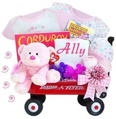 http://www.gotobaby.com/ – Buy the adorable personalized Kara Nessian Radio Flyer wagon for little girls packed with all kinds of baby essential at Go To Baby.