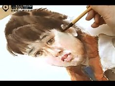 Watercolor Painting a Girl Portrait by Guan Weixing Artist - YouTube