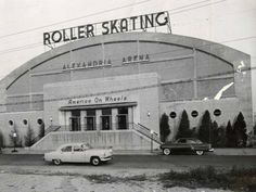 The performance was held at the Alexandria Roller Rink, which opened in 1948 and featured a hard wood floor and Wurlitzer organ. Description from retropopplanet.wordpress.com. I searched for this on bing.com/images