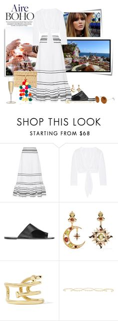 """Priscila Fernandes"" by priscilafernandessantos on Polyvore featuring moda, Post-It, Dolce&Gabbana, Lisa Marie Fernandez, ATP Atelier, Diego Percossi Papi, Jennifer Fisher, Isabel Marant e SW Global"