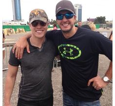 Dustin Lynch and Luke Bryan...  Can you say sexy and sexier??
