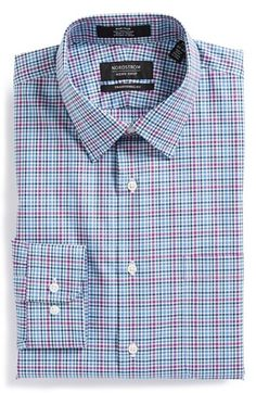 Nordstrom Traditional Fit Non-Iron Check Dress Shirt available at #Nordstrom
