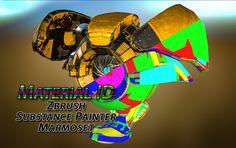 Material ID (Zbrush4R7/SubstancePainter/Marmoset)