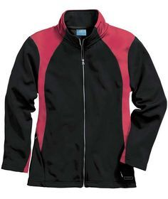 Buy the Charles River Apparel 5077 Women's Hexsport Bonded Jacket from SweatshirtStation.com, on sale now for $37.43 Red/Black #charlesriver #dancewear