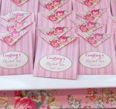 Personalized Tea Bag Favor Printable  Bridal Tea by ThatPartyChick