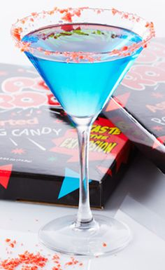 Get the party poppin' with this Pop Rocks Martini recipe. #BiteMeMore #martinis