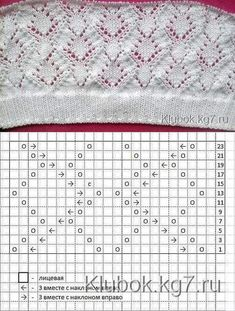 62 ideas for knitting lace pattern ganchillo Lace Knitting Stitches, Lace Knitting Patterns, Knitting Charts, Knitting Designs, Baby Knitting, Stitch Patterns, Baby Patterns, Crochet Baby, Seed Stitch