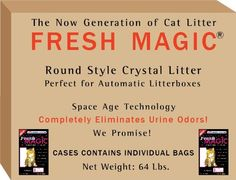 Fresh Magic Crystal Litter 64Lb Double case ROUND style - Designed for AUTOMATIC LITTERBOX - buy bulk-save$ - $1.76 Lb. - FREE SHIP