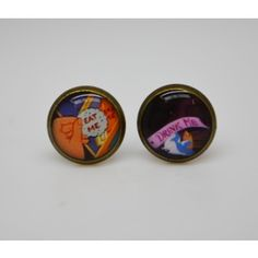 Drink me Eat me Stud Earrings Limited edition Alice in Wonderland Collection