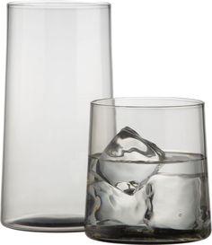 Need some new everyday glasses. astilla smoke barware in drinkware | CB2