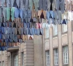 Laundry Art // Kaarina Kaikkonen    Finnish artist Kaarina Kaikkonen gives new meaning to hanging your laundry out to dry.