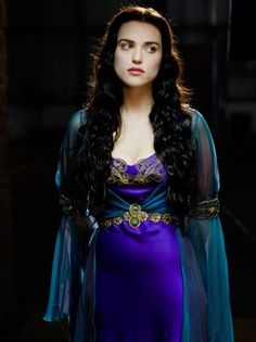 Violet and Turquoise Gown. Dress. Morgana. Merlin. BBC. Fantasy.