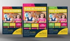 Kids School Education Flyer Template by Business Templates on Creative Market