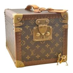 fca1df907a6a Cloth vanity case LOUIS VUITTON Brown