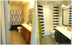 Nautical Bathroom Makeover. This is what we're constructing our bathroom to look like, someday! (: