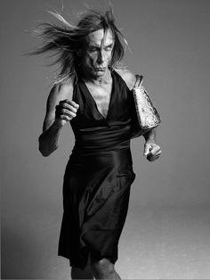 "Iggy Pop | I'm not ashamed to dress 'like a woman' because I don't think it's shameful to be a woman."""