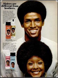 """1970s ad for hair products - """"Sisters are different from brothers"""" awww sooo cute!!"""