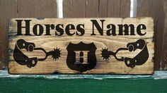 Rustic Personalised Horse / Pony Stable Door Sign Name Plate Plaque Box shield