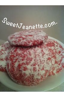 Sweet Jeanette: Easiest Ever Strawberry Cookies...From a Cake Mix. I think I'll try these.