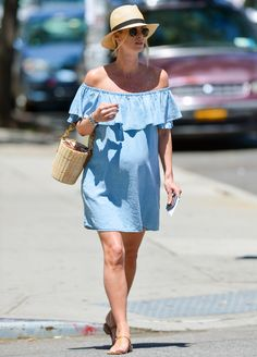 Pregnant Nicky Hilton Goes Off-the-Shoulder Once Again from InStyle.com
