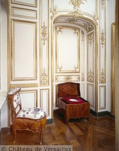Toilet and bidet in the King's inner apartment at Château de Versailles