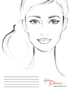 She's A Beauty.Another face chart for makeup artist Desiree Delia! Arte Fashion, Fashion Face, Colouring Pages, Adult Coloring Pages, Day Of The Dead Drawing, Realistic Cartoons, Makeup Face Charts, Face Painting Designs, Illustration Girl