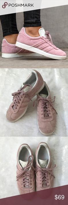 new product 7d547 d82cf Adidas Gazelle Stitch and Turn Suede Sneakers