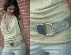 Woven hip belt with silver buckle from Streets Ahead - so pretty layered over our knits...