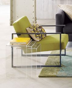 Love these! peekaboo clear nesting tables set of three in accent tables   CB2