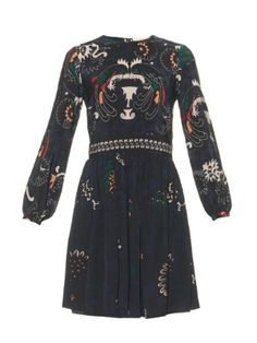 Drove long-sleeved printed silk dress | Vanessa Bruno | MATCHESFASHION.COM