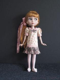 """Pink Brown Shabby Rose Set Handmade for 14"""" Tonner Wilde Patience BJD by JEC 