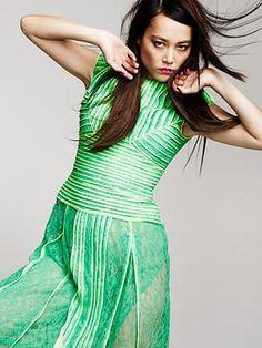 Rinko Kikuchi: Lace dress