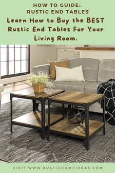 End Table Sets, End Tables With Storage, Coffee Table With Storage, Side Tables, Coffee Tables, Birch Lane, Rustic End Tables, Driftwood Table, Etagere Bookcase