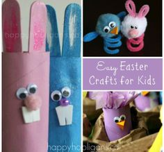 10 Easy Easter Crafts for Kids by Happy Hooligans