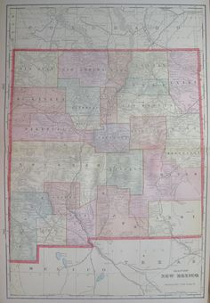 Vintage OKLAHOMA MAP Of Oklahoma Gallery Wall By Plaindealing - Us map 1908
