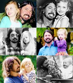 Dave Grohl and his daughters